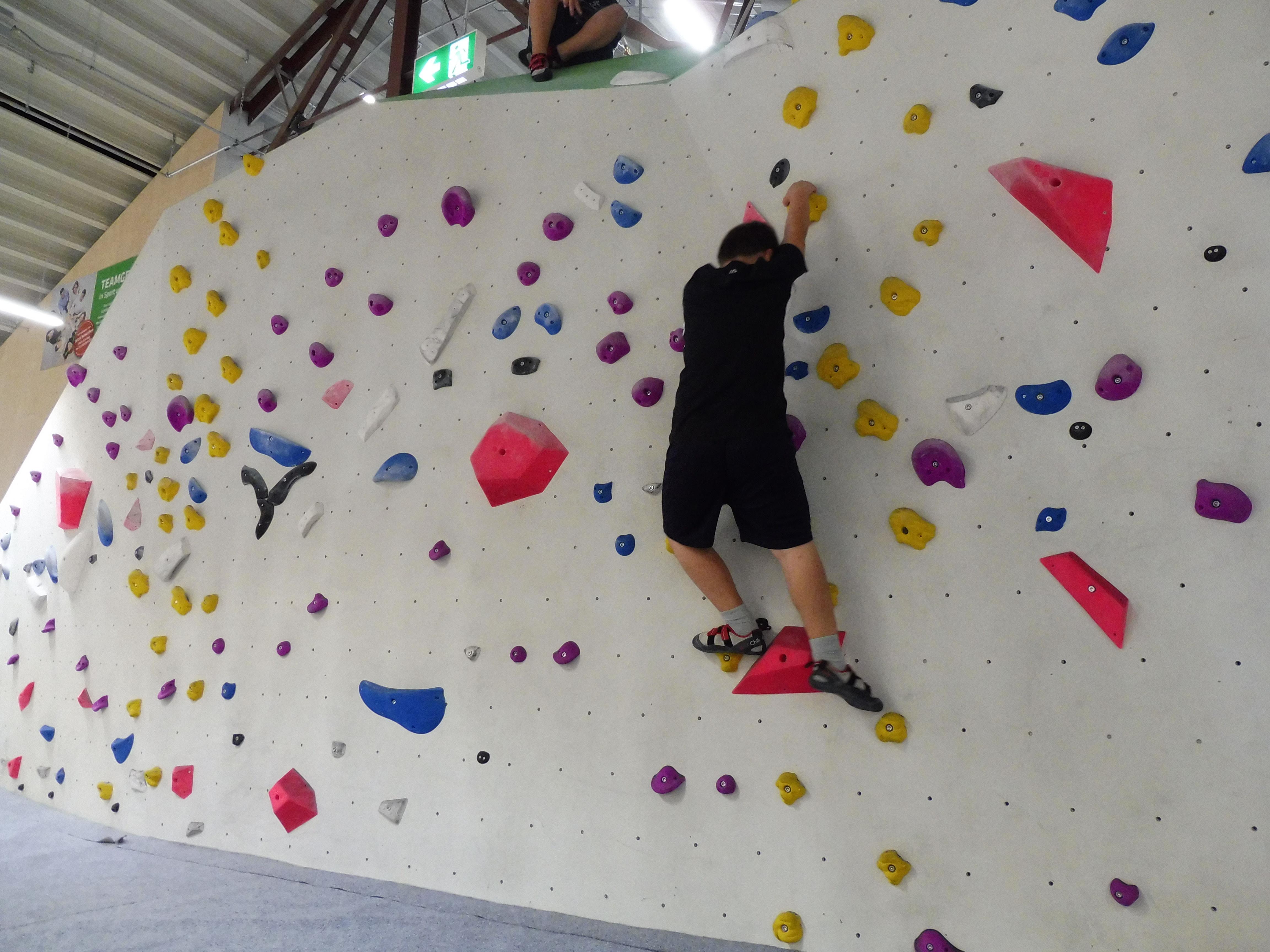 Klettern ohne Seil – Bouldern